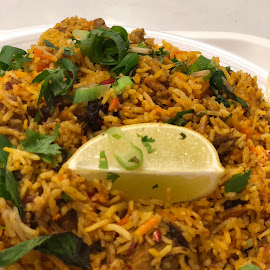 Biriyani by Harshu S - Food & Drink Plated Food ( spicy hyderabadi biriyani )