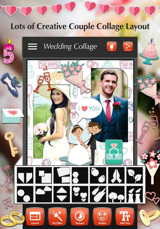 wedding photos collage