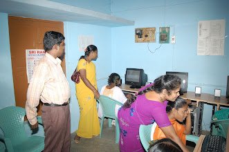 Photo: Both Mrs.Anjugam and Mr.Arul observing the hands on training at our CTC
