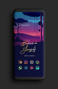 Color Line DARK Icon Pack (MOD, Paid) v1.2 1