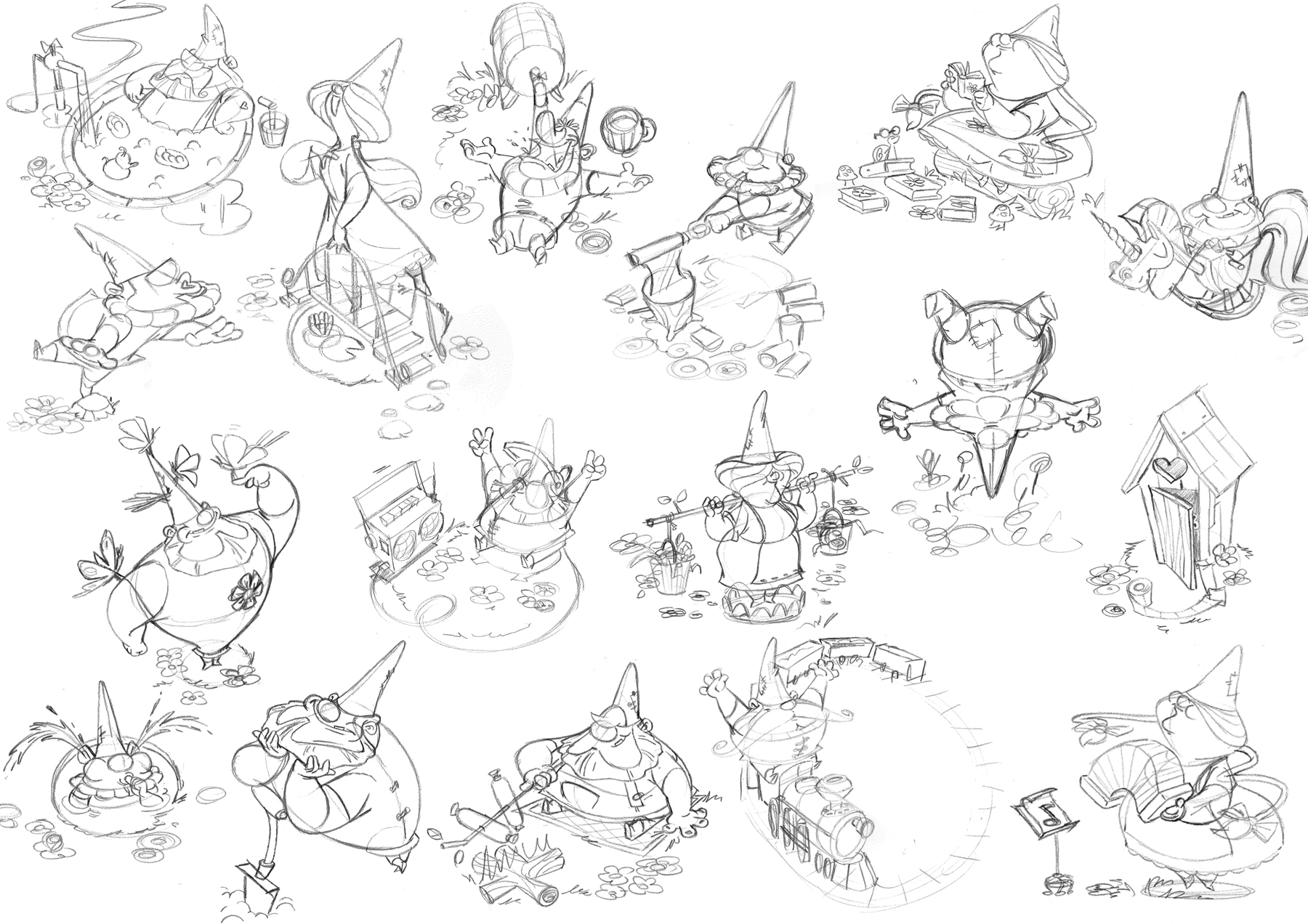 Even more ideas for the final gnome statues.