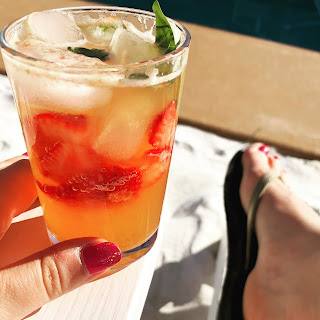 Strawberry Basil Kombucha Cocktail Recipe