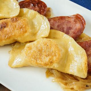 Pierogi Ruskie (Polish Dumplings with Potatoes and Cheese).