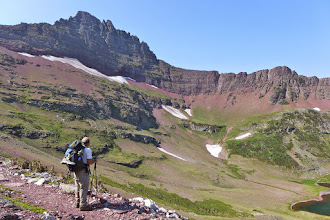 Photo: Greg is just below Red Gap Pass. That ridge is the Continental Divide.