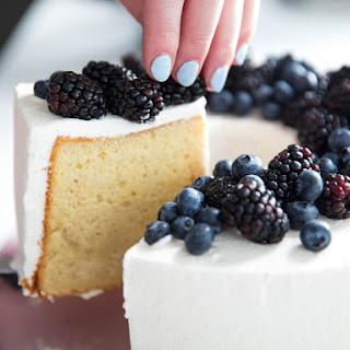 Classic Chiffon Cake With Vanilla Chantilly.