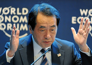 Photo: DAVOS/SWITZERLAND, 26JAN12 - Naoto Kan, Prime Minister of Japan (2010-2011) gestures during the session 'Complexity and Crisis: The Case of Japan' at the Annual Meeting 2012 of the World Economic Forum at the congress centre in Davos, Switzerland, January 26, 2012.  Copyright by World Economic Forum swiss-image.ch/Photo by Michael Wuertenberg