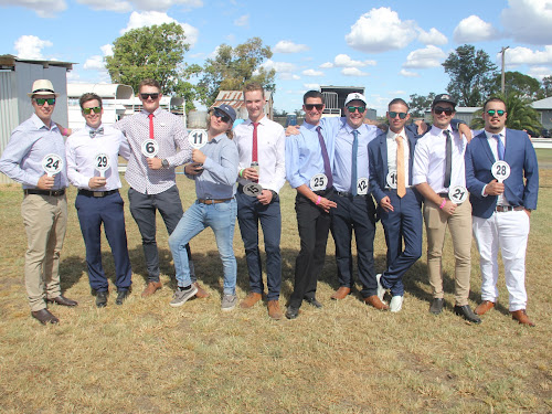 MEN'S FASHIONS IN THE FIELD ENTRANTS: Justin Steele, Brenton Ward, Ryley Tout, Mitch Brown, Sam Carberry, Liam Parker, Michael Promnitz, Anthony Adams, Josh Wales and winner Jayden Harradine.