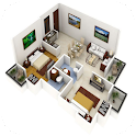 3D Small House icon