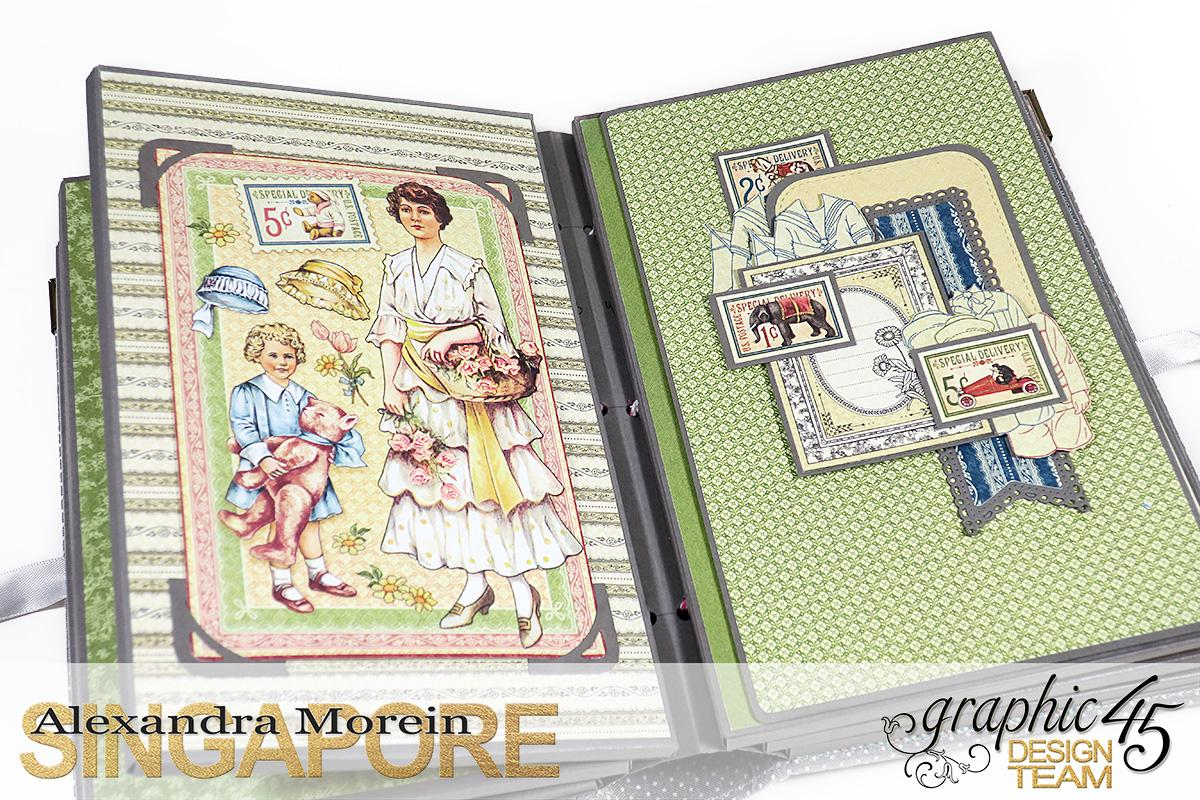 Paper Doll Play Set and Mini Album, Penny's Family Paper Doll, Tutorial by Alexandra Morein, Product by Graphic 45, Photo 13.jpg