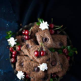 Chocolate Cherry Financiers.