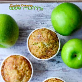 Zucchini Cinnamon Apple Muffins.
