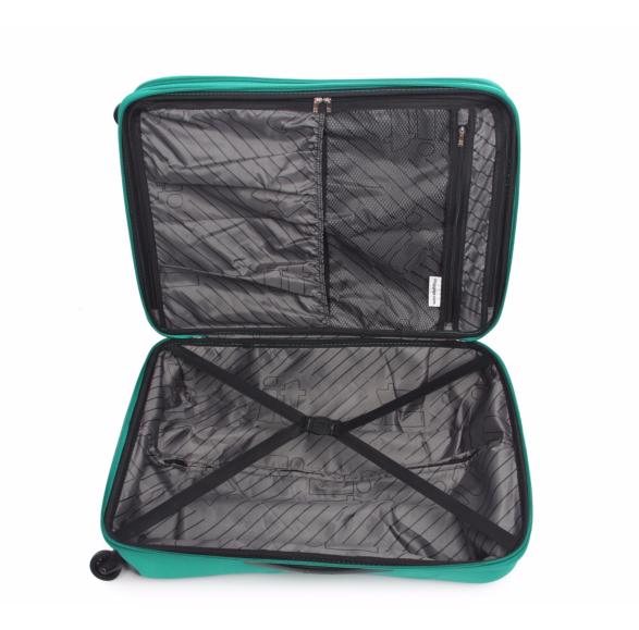 blue suitcase open
