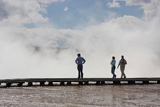 Photo: Board walk in Upper Geyser Basin - Yellowstone National Park, Wyoming