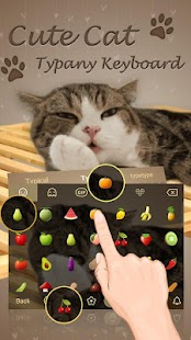 Cute Cat 3D Animated Theme&Emoji Keyboard - náhled