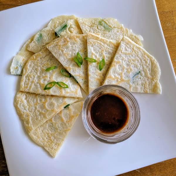 Korean Pancakes With Scallions (pa Jun) Recipe