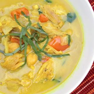 Turmeric Chicken and Chickpea Soup.