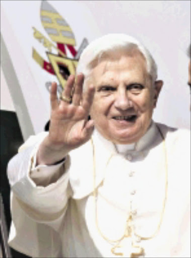 MISSION: Pope Benedict.  17/03/2009. Pic. Pier Paolo Cito. © AP