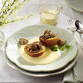 Baked Peaches with Zabaglione.