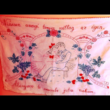 "Photo: Handmade Hungarian craft (1940's) - ""I think of you more than stars are on the sky"" #intercer #handmade #romania #hungarian #magyar - via Instagram, http://instagr.am/p/LsBrrUJfjS/"