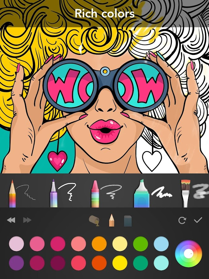 Girls Coloring Book- screenshot