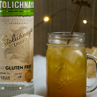 Gluten Free Gingerbread Cocktail Recipe featuring Stoli Gluten Free.