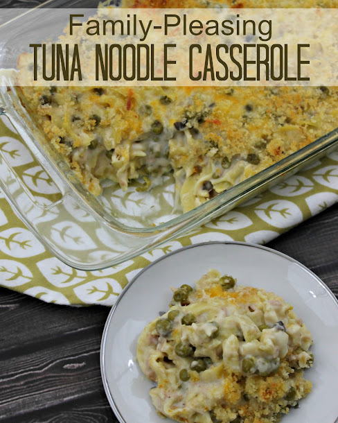 This Tuna Noodle Casserole recipe is one the entire family will love, even the ones that say they don't like tuna noodle casserole!