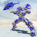 Air Robot Transform Helicopter Robot Battle War icon