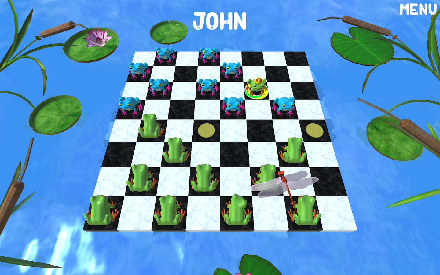 Frog Checkers- screenshot