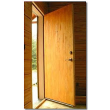 Photo: This simple wood flush door saves on energy because it is insulated with patented Sing Honeycomb torsion box foam core.