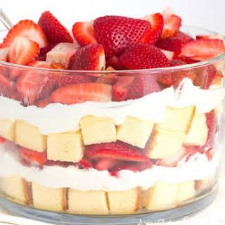 Layered Strawberry Trifle.