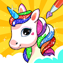 Unicorn Coloring Book & Unicorn Games for Girls icon