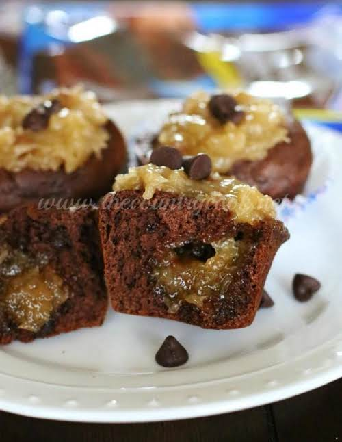 "German Chocolate Chip Muffins ""This recipe has three – yes 3! –..."