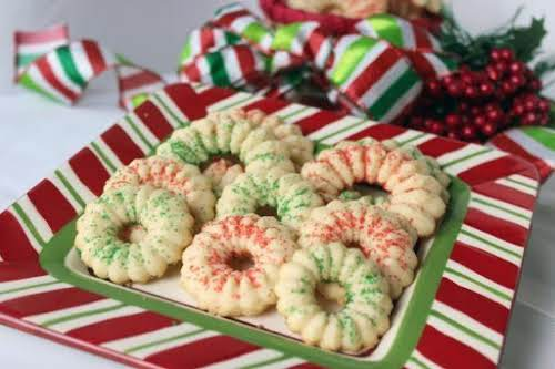 "Peppermint Spritz Cookies""Love these buttery cookies and love peppermint so I combine..."