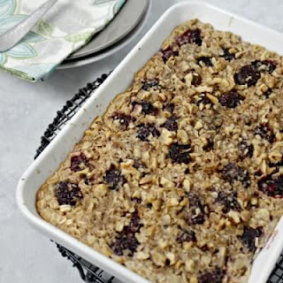 Lemon Blackberry Baked Oatmeal