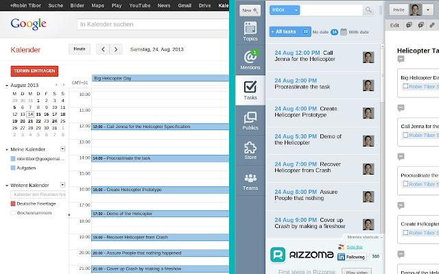 Rizzoma Tasks for Google Calendar™