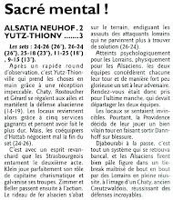 Photo: 22-01-2012 Alsatia Strasbourg - ASVB 2-3