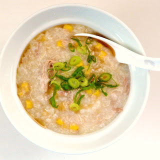SLOW COOKER CHICKEN AND CORN CONGEE.