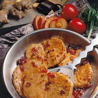 Ginger-Plum Pork Chops.