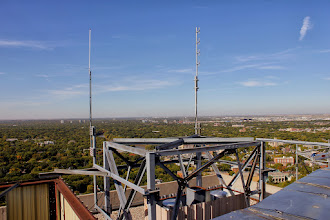 Photo: Our UHF Omi, the newest antenna on the structure