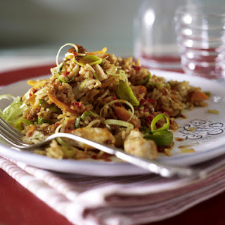 Turkey Strips with Chili and Egg Fried Rice.