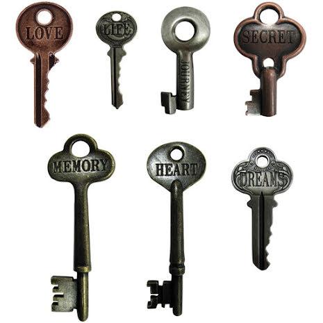 Tim Holtz Idea-Ology Metal Word Keys 7/Pkg