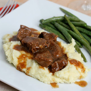 Slow Cooked Tri Tips & Gravy with Mashed Potatoes.
