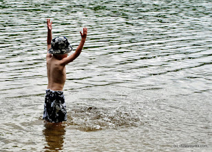 Photo: So much fun to splash in the water at Ricker Pond State Park