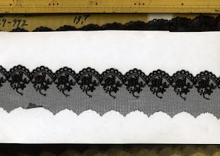 Photo: №822529-992チュールレース黒:巾45mm