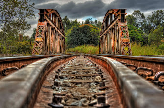 """Photo: I named this image """"If the train comes""""... I just rested the camera on the train tracks, hoping that the train would not come. 3exp HDR, plus polishing on Photoshop, taken in Minas Gerais, Brazil."""