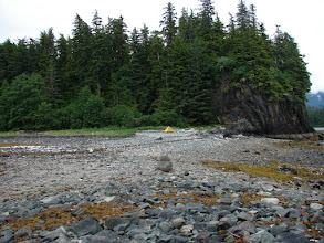 Photo: My campsite on a peninsula in Sand Bay.