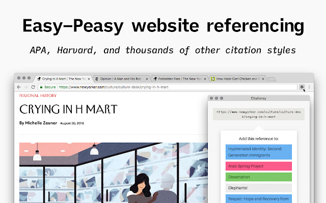 Citationsy - Cite Websites and Papers