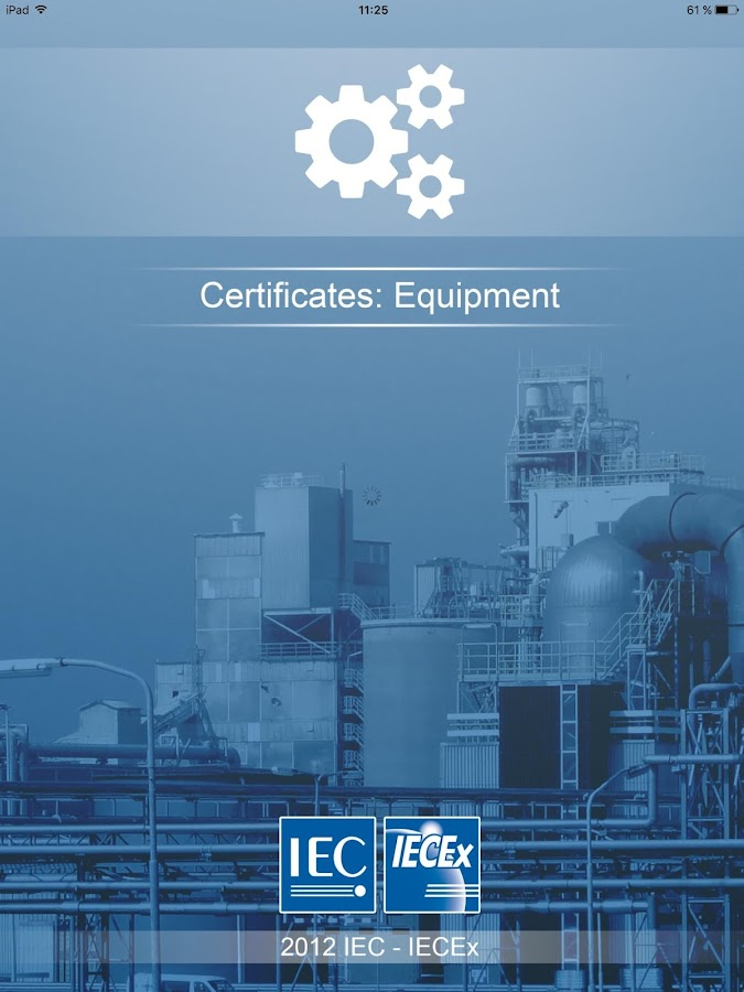 IECEx Equipment Certificates- screenshot