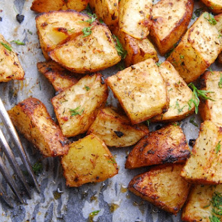 Crispy Salt & Vinegar Potatoes.