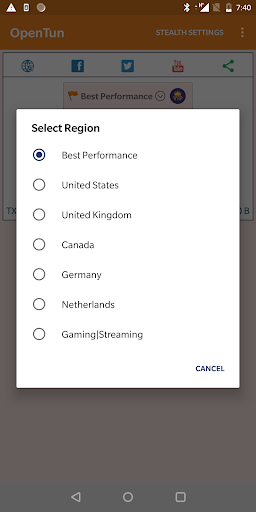 OpenTun VPN - 100% Unlimited Free Fast VPN Client 2.0 Screenshots 2